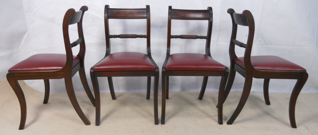 high fashion furniture set of six antique regency style mahogany dining chairs 11790